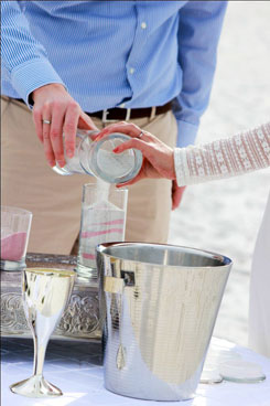 Beach wedding with sand ceremony in Florida